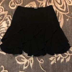 Cache Balck Ruffle Skirt Sz 4
